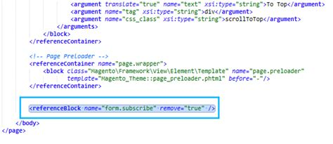magento layout xml remove can i remove the footer newsletter block zemez magento