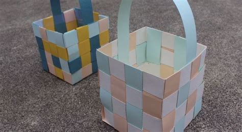 How To Make Paper Easter Baskets - and easy easter crafts for children craft projects