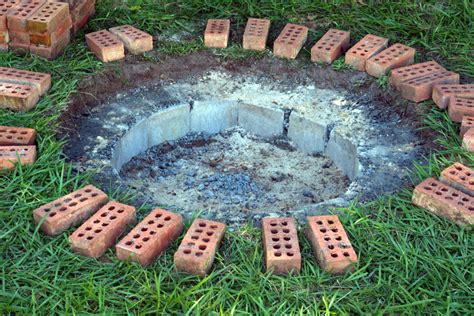 how to make a firepit out of bricks how to make a pit out of bricks fireplace design ideas
