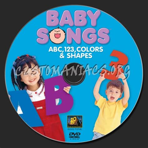 baby songs abc 123 colors and shapes dvd baby songs abc 123 colors shapes dvd label dvd covers
