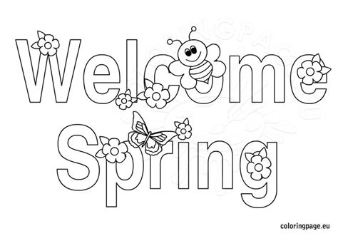 welcome coloring pages for toddlers free welcome printable coloring page