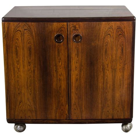 flip top bar cabinet mid century modernist bookmatched rosewood flip top bar cabinet at 1stdibs