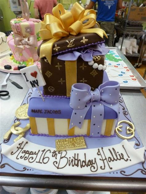 Louis vuitton tiered cake