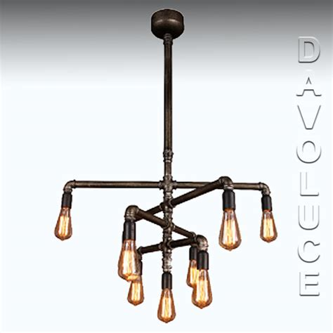 Foundry Lighting by 201525 Eglo Foundry 9 Light Pipe Pendant From Davoluce