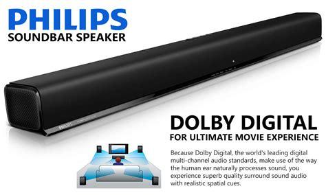 philips tv soundbar speaker led usb optical  ch