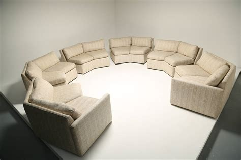 mid century sectional sofa mid century hexagonal sectional sofa in the style of milo