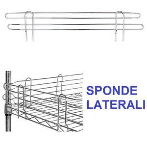 scaffali filo acciaio spondine in acciaio cromato per scaffali e librerie in