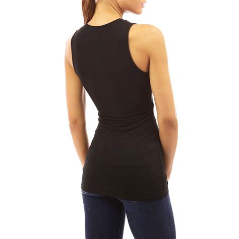 Blouse Tank Top womens v neck tank tops vest top sleeveless blouse casual shirts ebay