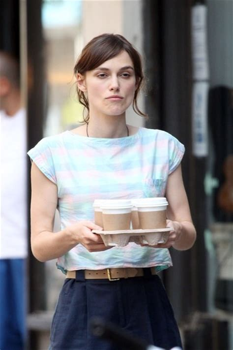 kiera coffee kiera knightly shows off her range of facial expressions