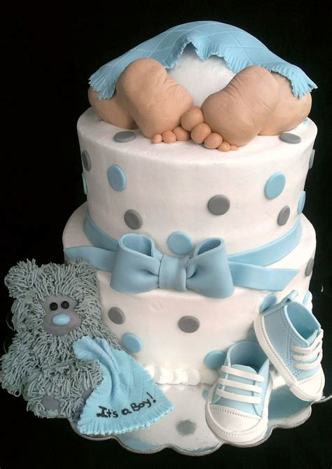 Baby Boy Shower Cakes by Baby Rump Baby Shower Cakeits A Boy Vanilla Cake With
