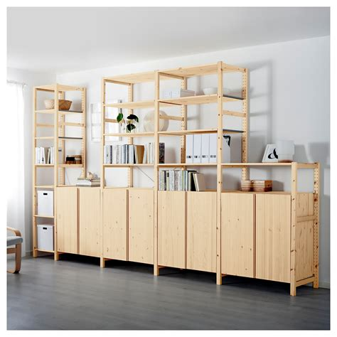 Ivar Kitchen by Ivar 5 Sections Shelves Cabinets Pine 389x50x226 Cm Ikea
