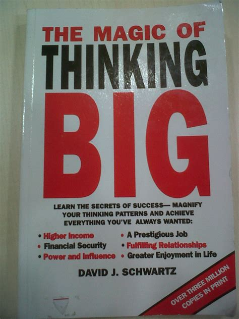 books read the magic of thinking big by david j schwartz