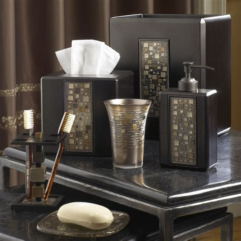 Decorative Bathroom Accessories Sets Mosaic Mocha Bath Accessories By Croscill Bedbathhome
