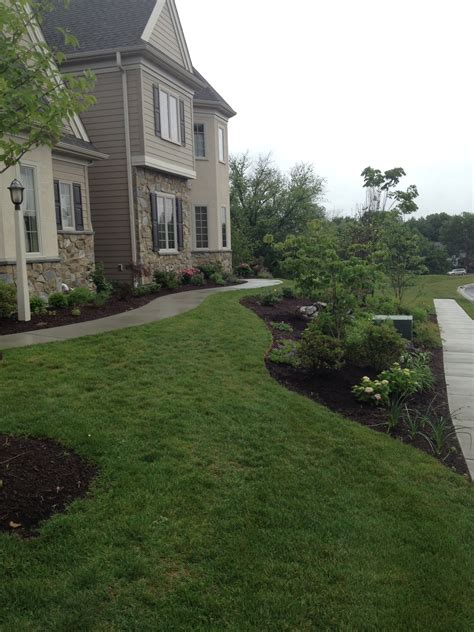 front yard landscape installation c e pontz sons