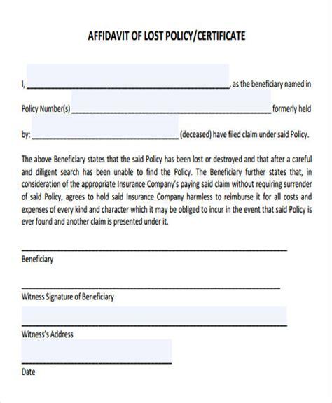 8 Lost Affidavit Form Sles Free Sle Exle Format Download Lost Check Affidavit Template