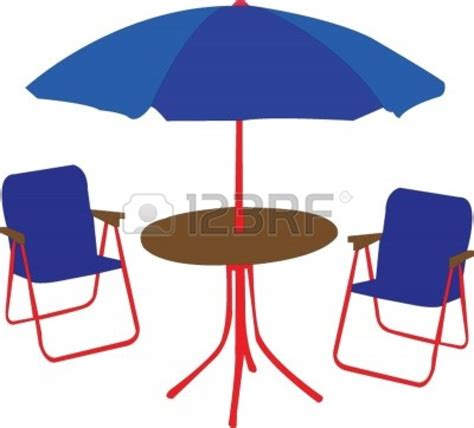 clip on table umbrella chair clipart clipart suggest