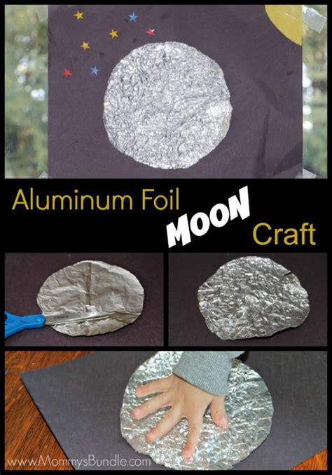 aluminum foil crafts for aluminum foil moon sensory craft moon crafts moon and