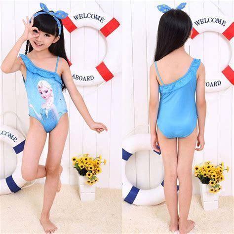 little girl 2016 bathing suits 2016 swimsuit girls children kids elsa swimwear one piece