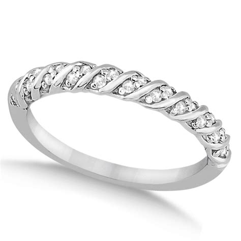 Rope Wedding Bands by Rope Wedding Band In Palladium 0 17ct Allurez