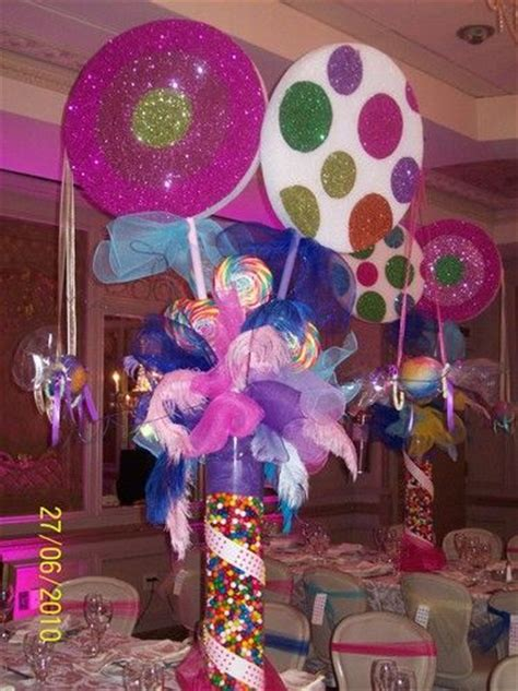 candyland centerpieces land themed sweet 16 wow get the table supplies starting at 1 50 from