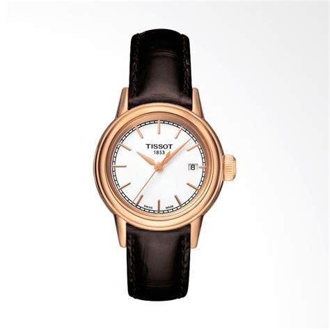 Jam Tangan Wanita Chopard Leather Coklat jual tissot t085 210 36 011 00 carson jam tangan wanita coklat harga kualitas