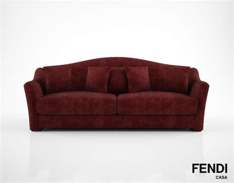 fendi couch fendi casa faubourg sofa 3d model
