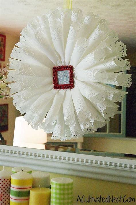How To Make Flowers Out Of Paper Doilies - lace wedding diy 2065782 weddbook