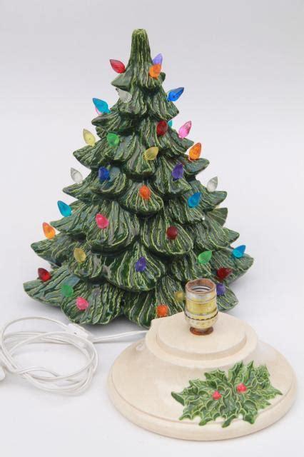 electric ceramic christmas tree with lights retro ceramic tree lighted electric tabletop tree l w tiny plastic lights