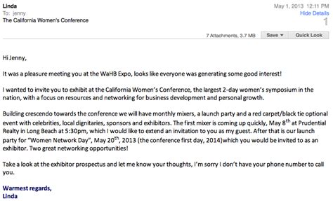 Follow Up Email After Mba Info Session by Networking Dos And Don Ts From An Event Pro