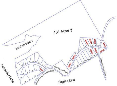 1 section in acres layout lake front property kentucky lake