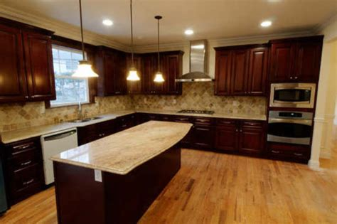 Modern Kitchen Countertops And Backsplash by Brown Kitchen Cabinets Pacifica Door Style Kitchen