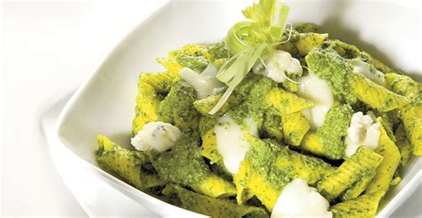 sedano ricette veloci garganelli con pesto di sedano e gorgonzola ricette