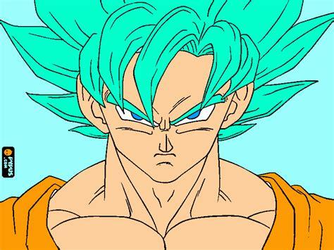 imagenes de goku blue goku ssj god bl para colorear goku ssj god bl para imprimir