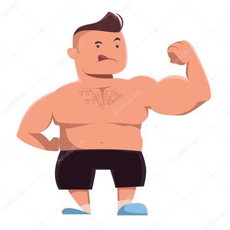 imagenes fuertes para un hombre hombre fuerte mostrando personaje de dibujos animados de