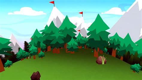 gambar animasi pemandangan gunung harian nusantara