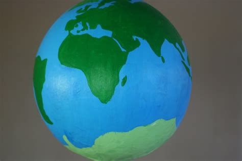 earth day crafts paper mache globe