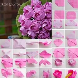 How To Make Beautiful Paper Roses - diy beautiful origami paper bouquet fab diy