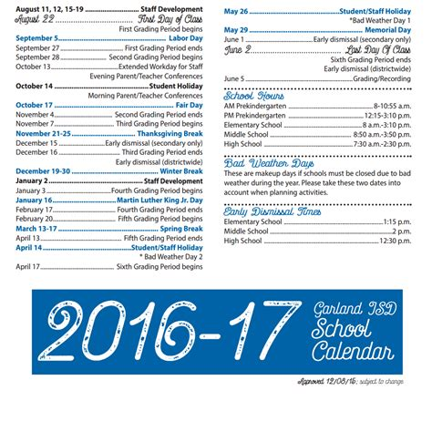 Carroll Isd Calendar Home Garland Independent School District