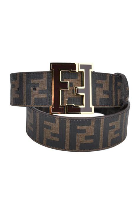 fendi brown zucca college belt designer clothing discount