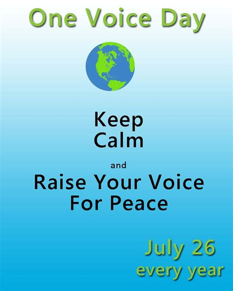 Day In July celebrate one voice day july 26 nonstop celebrations