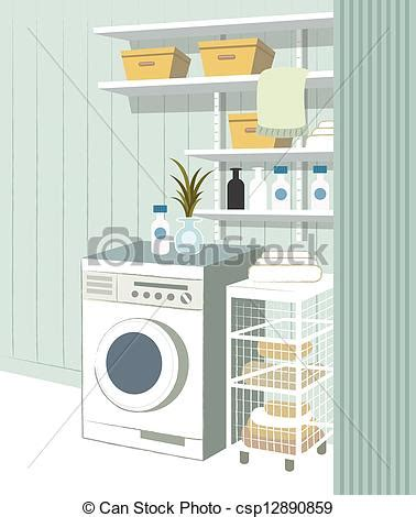 House Plans With Large Laundry Room by Clipart Vector Of Empty Laundry Room In House Csp12890859