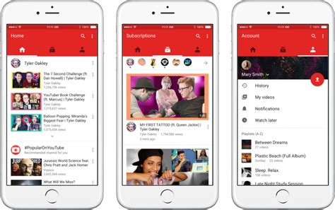 application design youtube google releases new youtube app with material design for