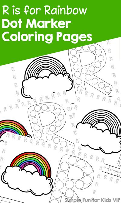rainbow dot coloring page r is for rainbow dot marker coloring pages simple fun
