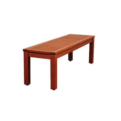 amazonia cooper 53 in eucalyptus backless patio bench sc
