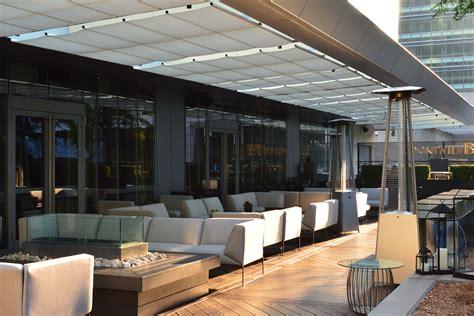 retractable canopies at ritz carlton hotel toronto