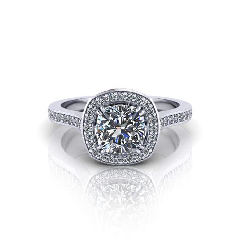 ring cusion cushion halo engagement ring jewelry designs