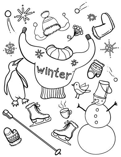 printable winter coloring page     http