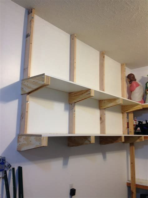 Garage Shelf Design garage wall shelving brackets home design ideas