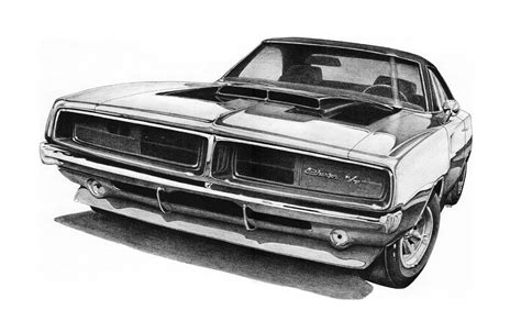 1970 dodge charger drawing 1969 dodge charger r t drawing by nick toth