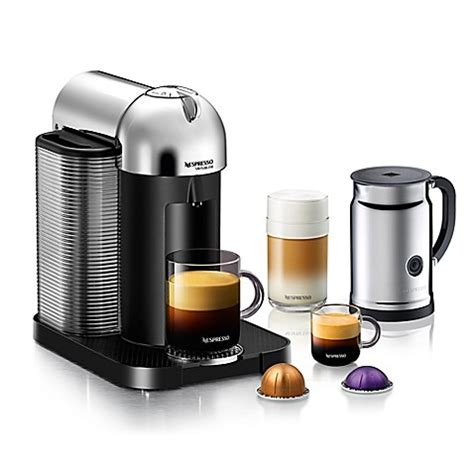 bed bath and beyond coffee makers nespresso 174 vertuoline coffee and espresso maker bundle